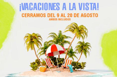 En Hosbo estaremos de vacaciones del 9 al 20 de agosto